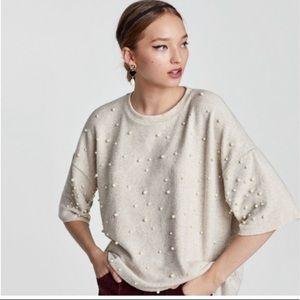 Zara pearl sweater - small